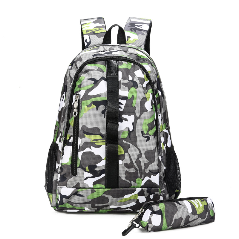 2018 Large Capacity Backpacks Women Men Laptop Notebook Back Pack Casual Waterproof Travel Bags Camouflage Sport Bags 2-piece