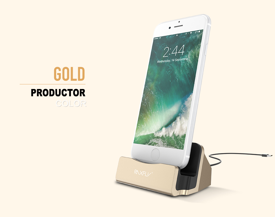 RAXFLY Desktop Charging Stand Holder Base For iPhone 7 6S 6 Plus 5 5S SE Charger Dock Holder Stand Station For iPad Mini 4 3 Air (10)