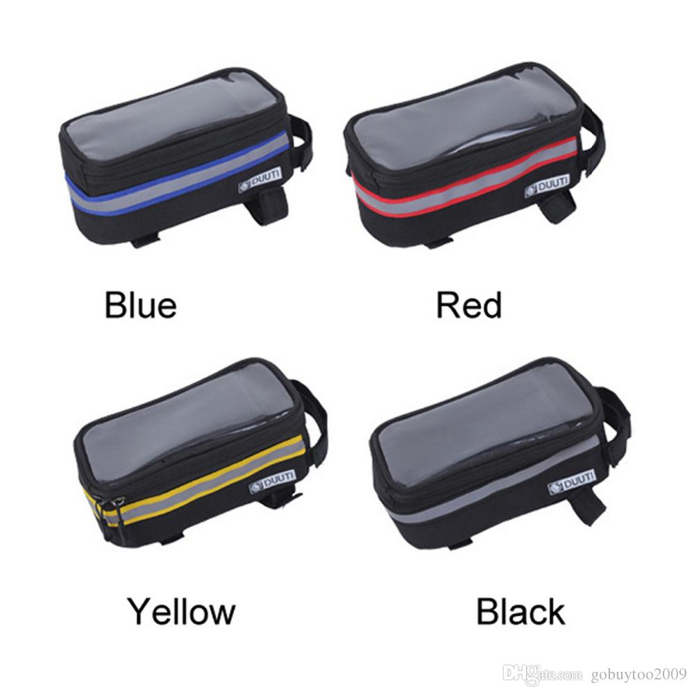 Waterproof Cycling Bicycle panniers Frame Front Tube bags For Cell Phone Holder case for MTB Bike Touch Screen
