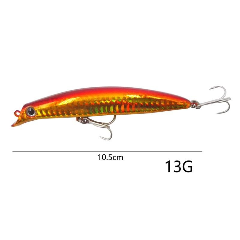 OUTKIT 1шт рыболовные приманки лазерной минноу 13г 10,5 см вихляя минноу плавающие приманки жесткий приманки рыболовные воблеры воблера искусственные Y18100906