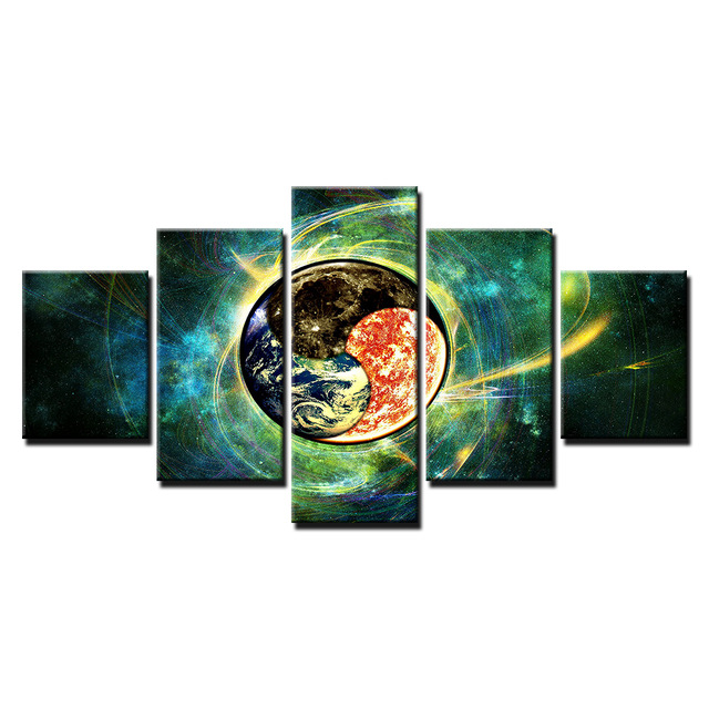 Original-Oil-Ink-5-Panels-Canvas-The-Earth-In-Universe-Painting-On-Canvas-Wall-Art-Picture.jpg_640x640