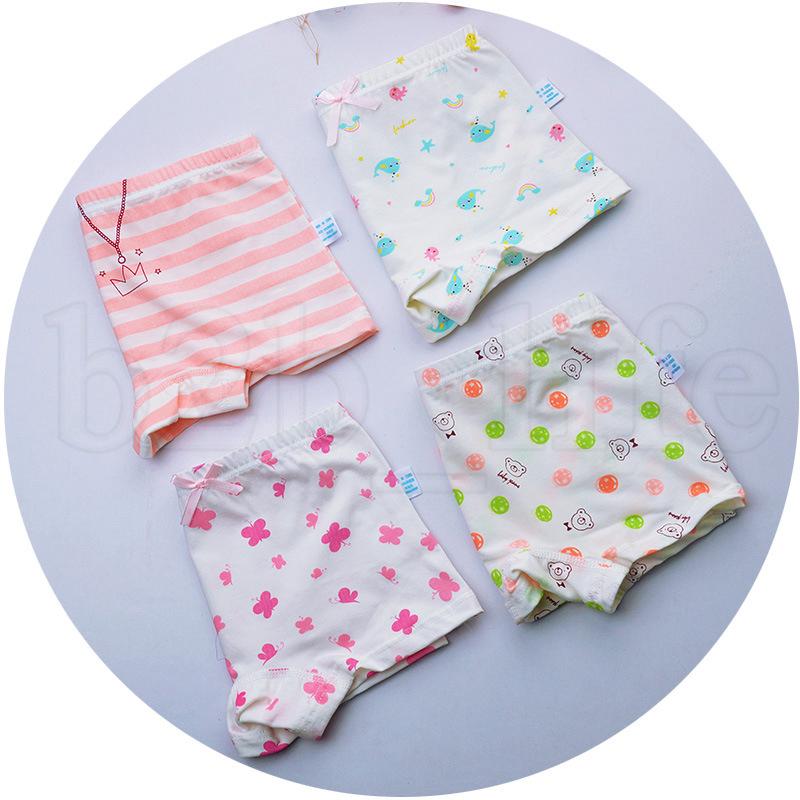 12styles Baby Kids Bragas niña Boxeadores Toddler Girls Shorts suaves animales de dibujos animados impreso Panty Children fashion cute Calzoncillos FA1081