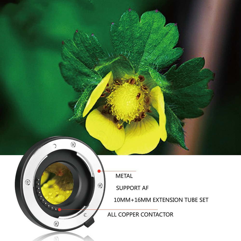 P-AF3-A Metal Auto Focus AF Automatic Macro Extension Tube for Panasonic & Olympus Micro 4/3 System Camera E-M5 E-M10 GX7 mkp af