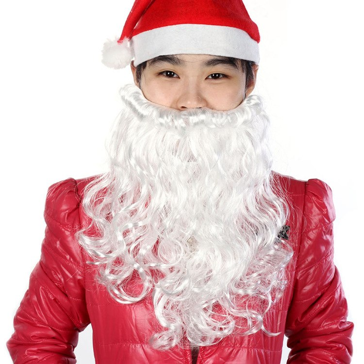 Santa Claus Wig Beard Set Costume Accessory Adult Christmas Fancy Decoration