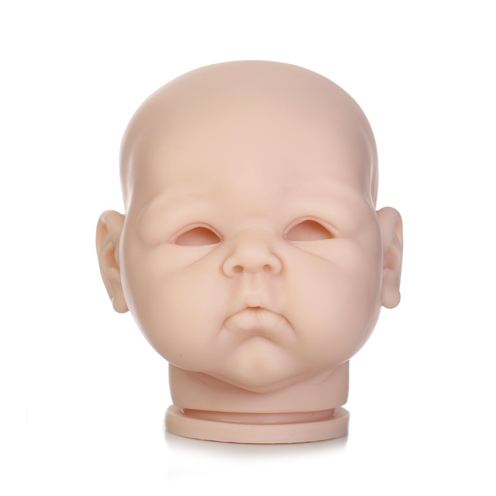 Unpainted Vinyl Doll Kits DIY 12/'/' Reborn Sleeping Baby Doll Head+3//4 Limbs Kits