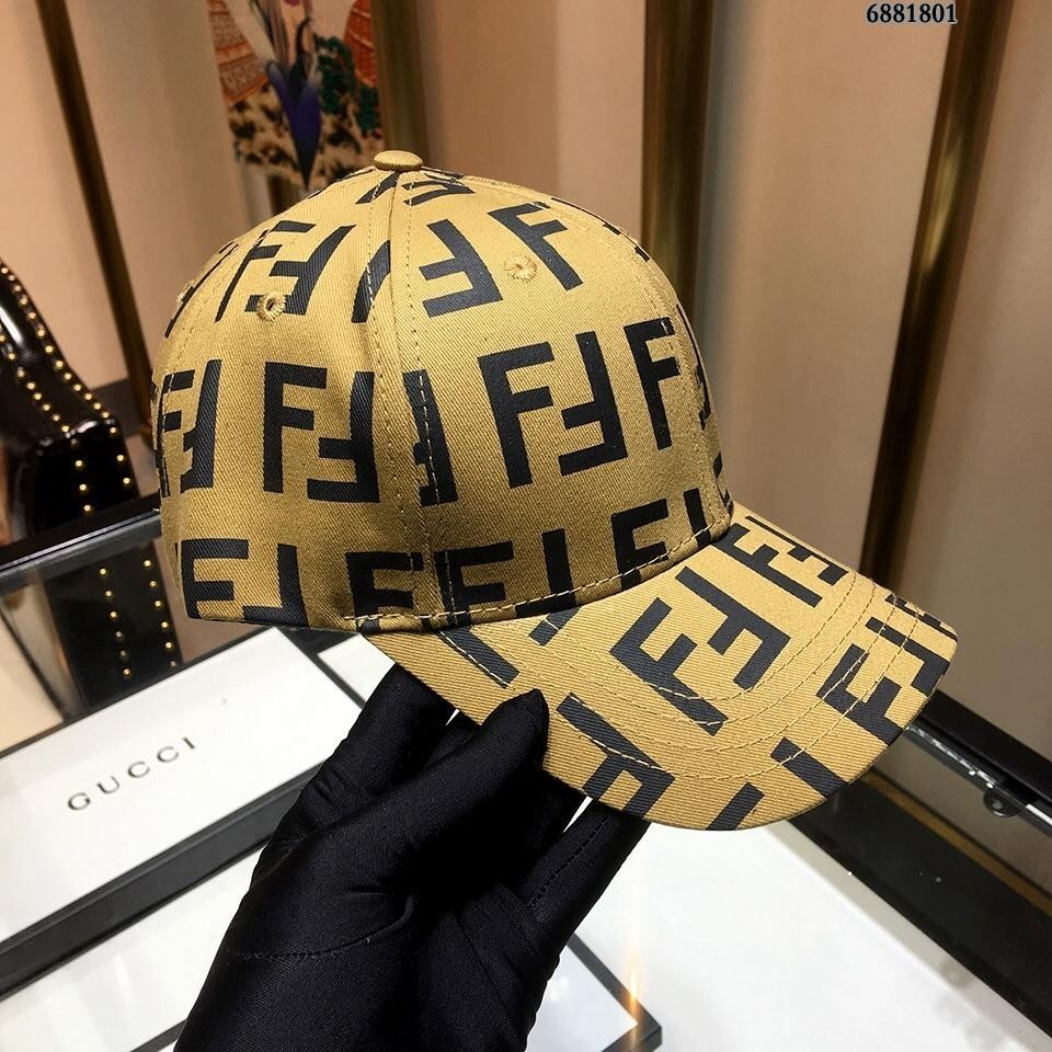 High End Women Men Cap Ladies Hats Counter printing letter F cap With Box