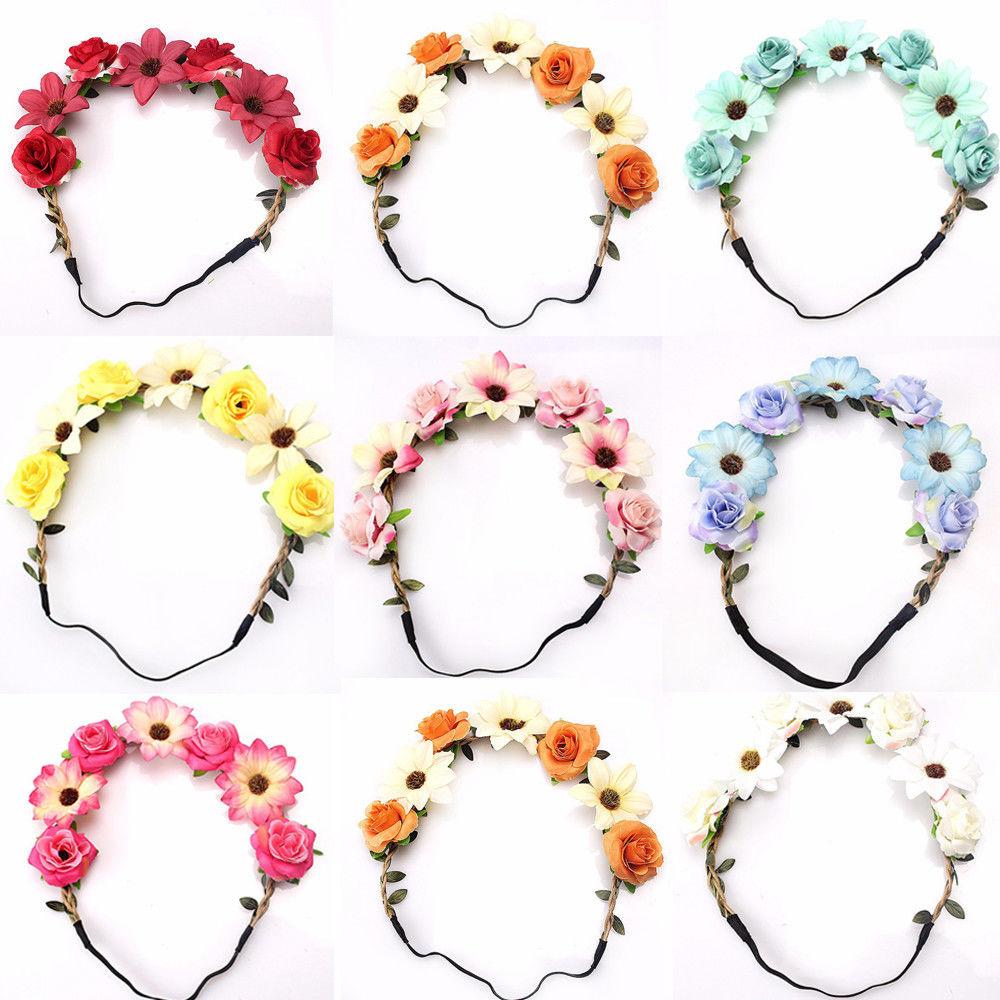 Mode Rose Sun Blume Stirnband Headwear Festliche Dekoration Geschenke Foto Prop Mädchen Elastische Haarbänder Korean Floral Haarschmuck Kopfschmuck