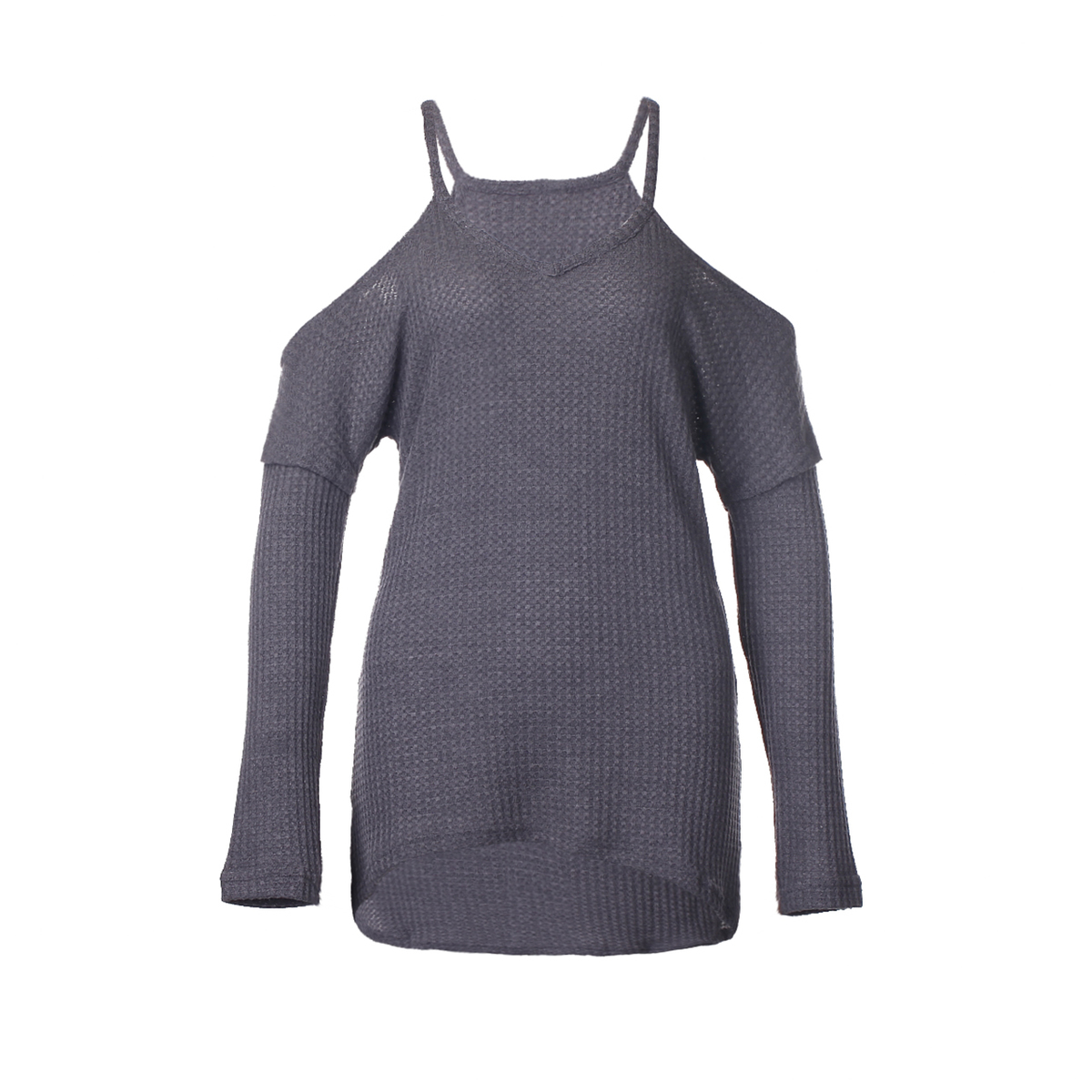 Womens T-shirt Long Sleeve Cold Shoulder Ladies Kintted Jumper Pullover Tops Autumn Spring New Fashion Women Clothes T-Shirts