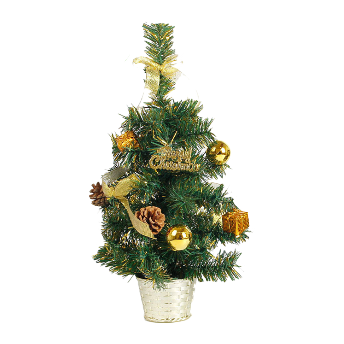 New Hot 45CM Height Table Top Christmas Tree Xmas Party Office Hanging Decoration Ornaments Party Decoration Supplies