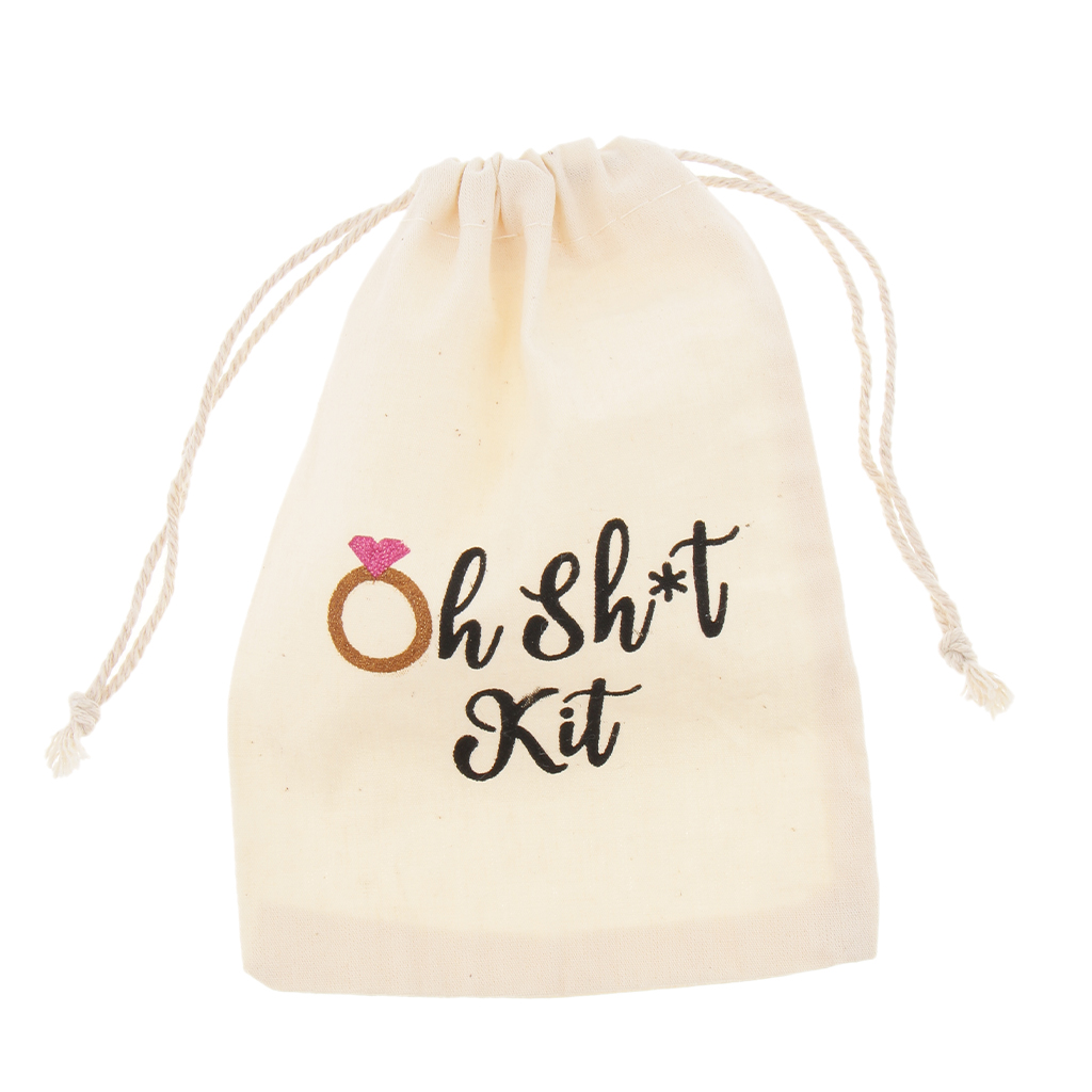 20pcs Oh Shit Kit Cotton Linen Jewelry Pouch Drawstring Bag Wedding Favor