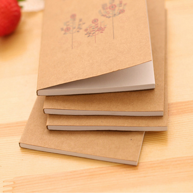 Retro birds and flowers Craft Paper Notepad Diy Korea Handwritten sketches supplied for Student School Office
