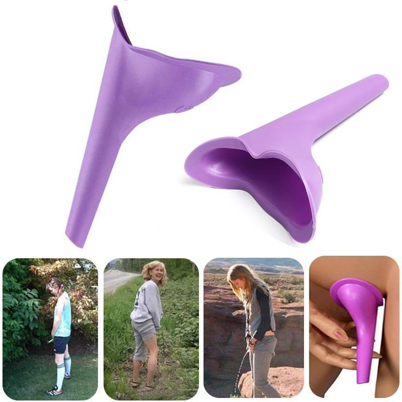 Romote 1Pc Frauen Pissoir Reise Outdoor-Camping-weiches Silikon-Urinieren Ger/äte Stand Up /& Pee Female Urinal WC