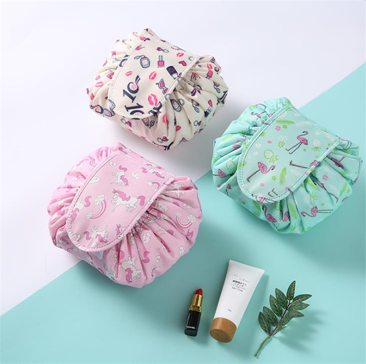 Hot cosmetic bag big capacity drawstring make up bag travel pouch women sundries storage bags without logo Korea trend Storage Bags D0038