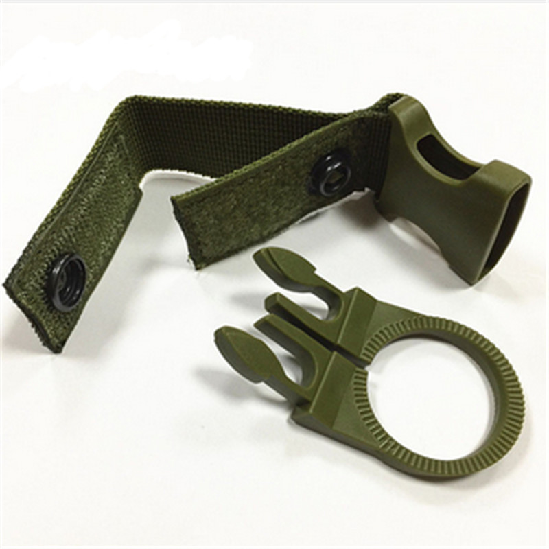 Nylon Molle Webbing Water Bottle Carabiner Belt Backpack Hanger Hook Outdoor Buckle Hook Holder Tool Clip Hunting Accessories ~