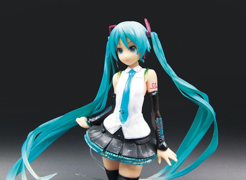 Toy gift model new youth gift animation Miku V4X Hatsune handwriting singer girl 1/8 boxed hand