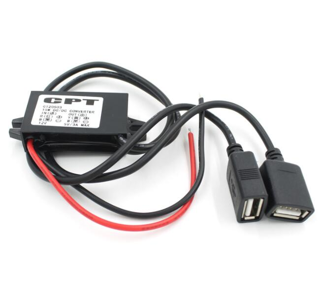 Car Charger Male Converter CPT Auto Power Step Down Regler Nicht isolierte Buck Modul Power Converter DC 12V zu 5V 3A 15W USB KKA5958
