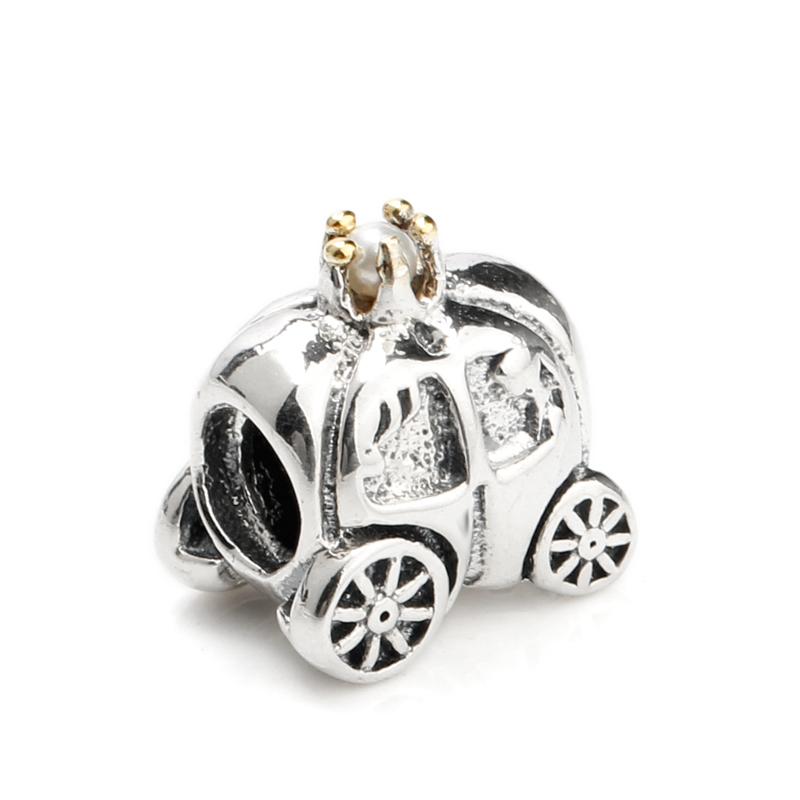 DIY 3PCS pumpkin car rhinestones Oil Drip Alloy Charms Pendant Jewelry Findings