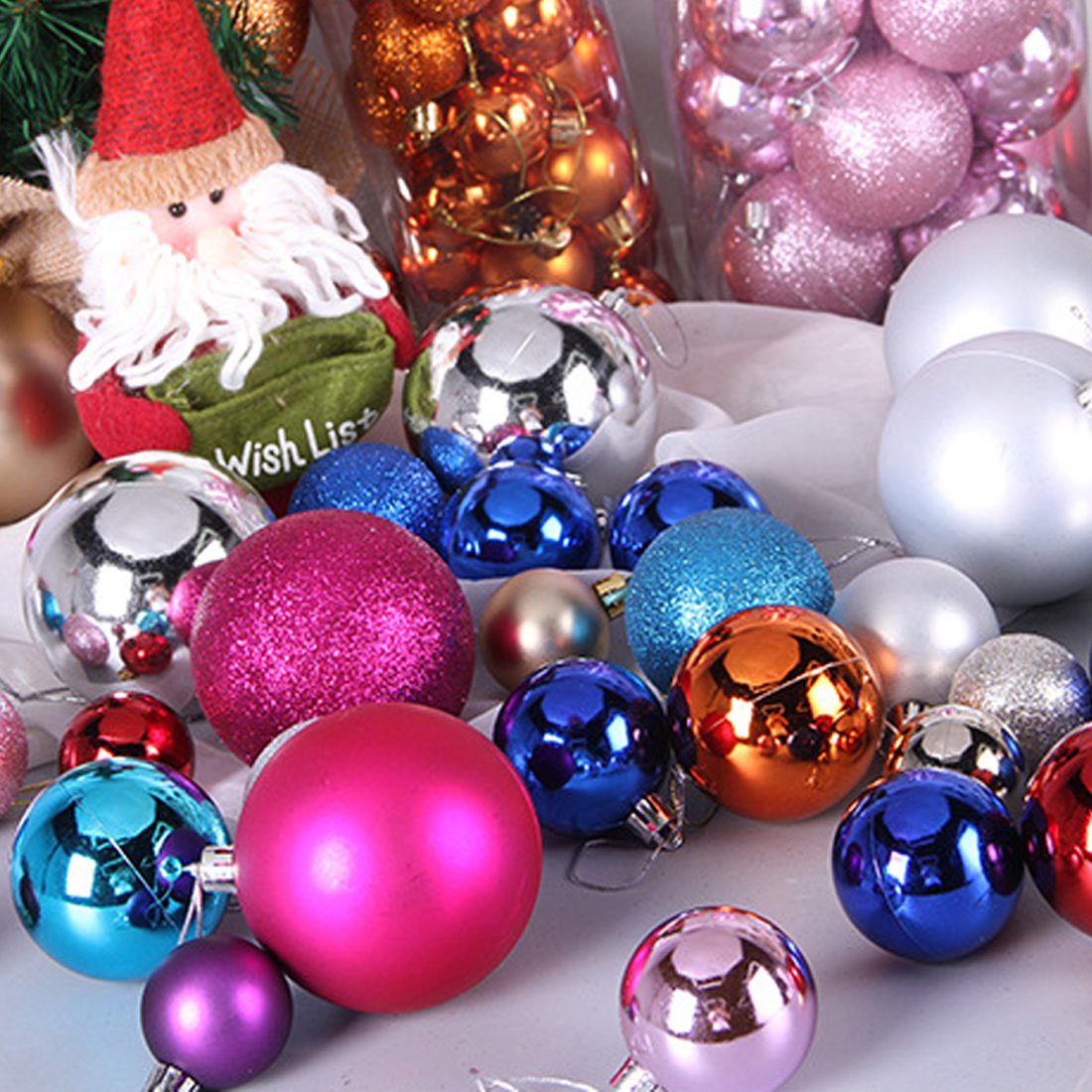 Pop Christmas Tree Decor Ball Bauble Hanging Xmas Party Ornament decorations for Home Christmas decorations Y18102609