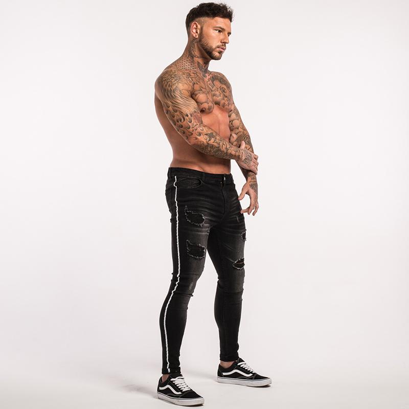 gingtto-mens-skinny-jeans-black-stripe-super-spray-on-zm23-9