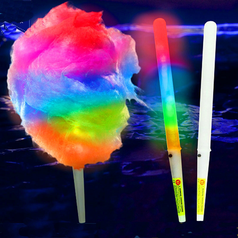 Colorful LED Cotton Candy Sticks Rainbow Luminous Sparkle Bar Party Cheering Barbar marshmallow Stick Halloween Christmas Club Decors