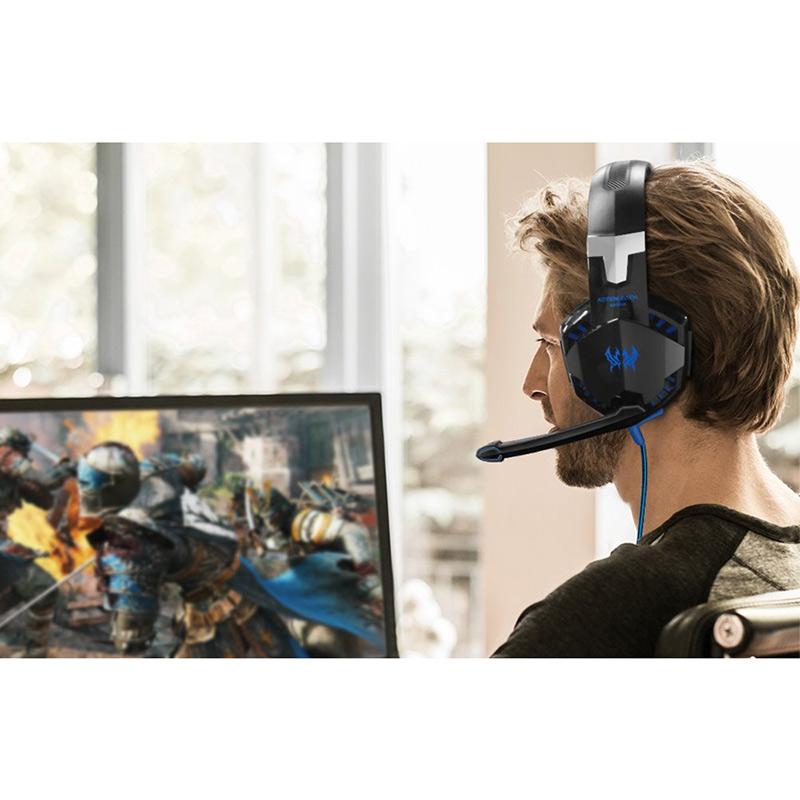Nuevos CADA G2000 Auriculares de graves profundos Estéreo HIFI Rodeado Sobre la oreja Auriculares Auriculares Diadema con luz deslumbrante para el juego de PC LOL