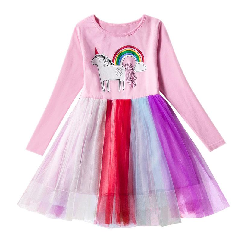 Kinder Mädchen Prinzessin Kleid Pompon Tutu Rock Mullrock Party Kostüm Herbst DE