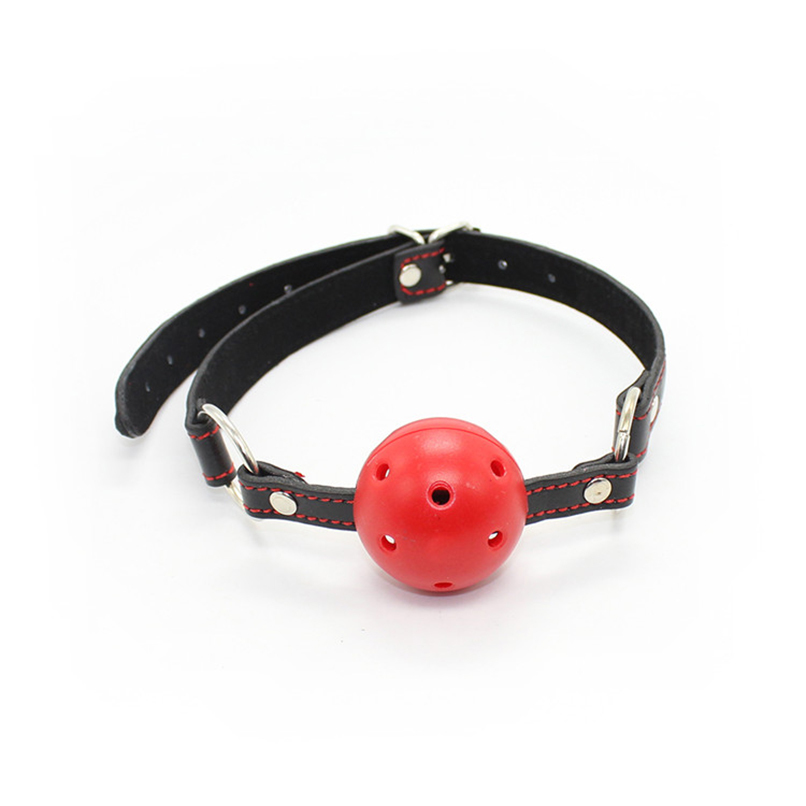 Open Mouth Ball Gag PU Leather Head Harness Fetish Restraint Bondage Adult Game Flirting Sex Products Toy for Couples Women
