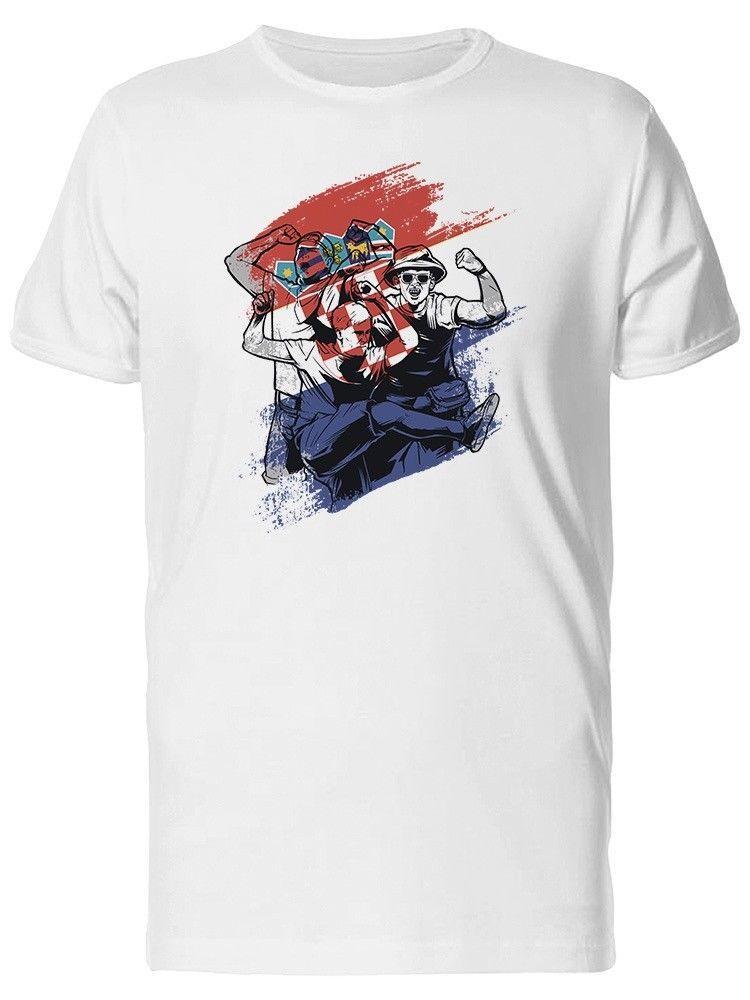 Croatia Soccerer Footballer Fans Men's Tee tshirt hot new fashion top 2018 officia shirts
