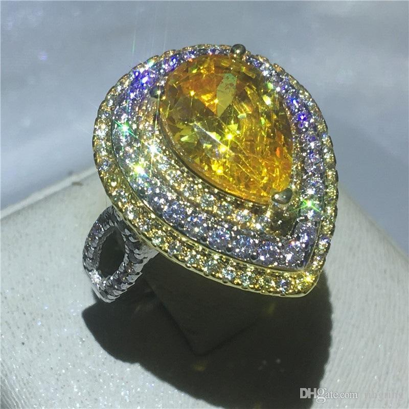 Luxury 925 Sterling Silver Fashion human Wedding Crystal anniversary Gem Ring Women Men Gift Trendy Jewelry