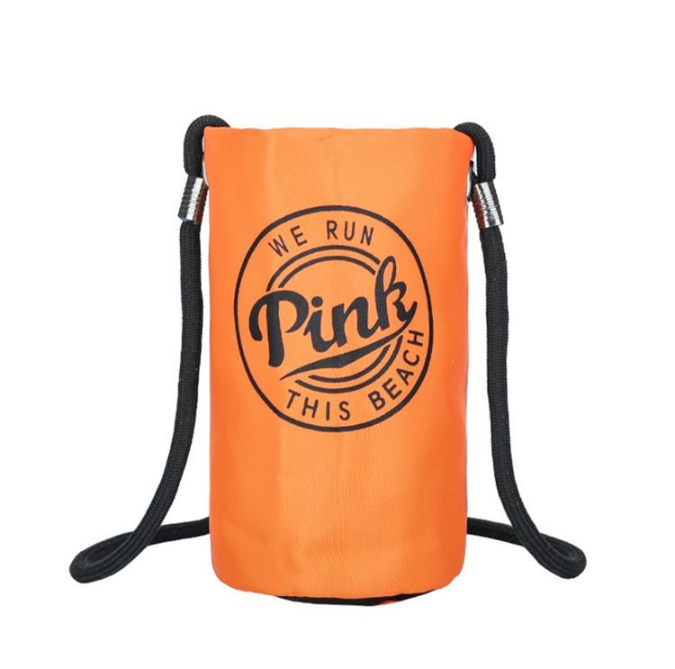Hot es rosa cubierta de la botella portador de la botella portador portátil al aire libre hombro manga bolsa de la correa bolsa de viaje bolsa de almacenamiento I456