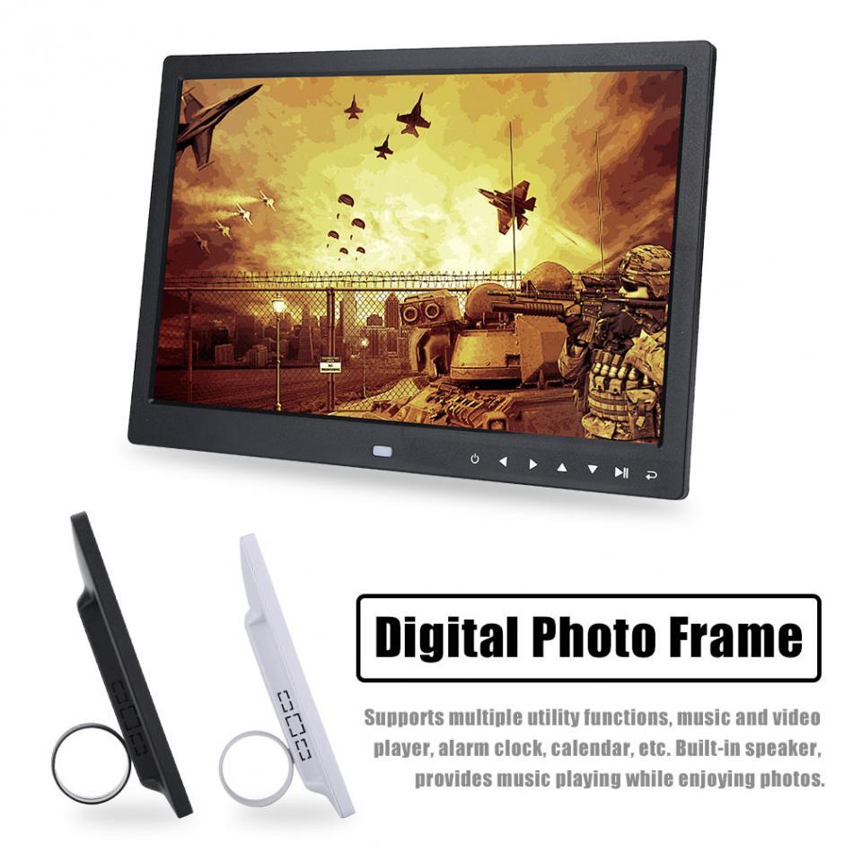 15 pulgadas TFT LED HD pantalla táctil marco de fotos digital calendario reloj despertador MP3 / MP4 Movie Player