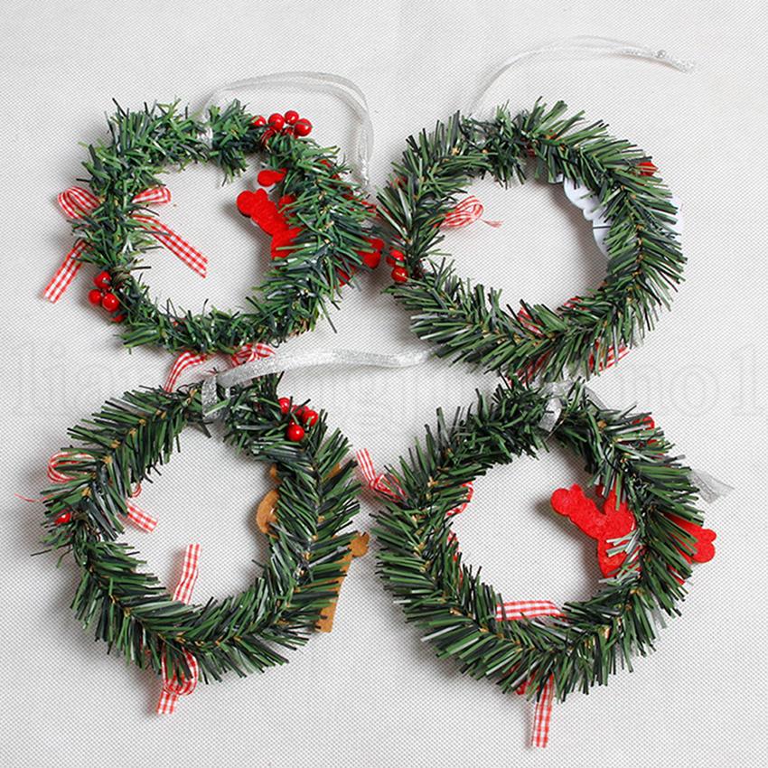Christmas Decorations Garlands.Christmas Snowman Deer Garland Art Wreath Decoration Rattan Reed Wreath Garlands Home Party Christmas Decorations Ooa5813 Christmas Shop Decoration