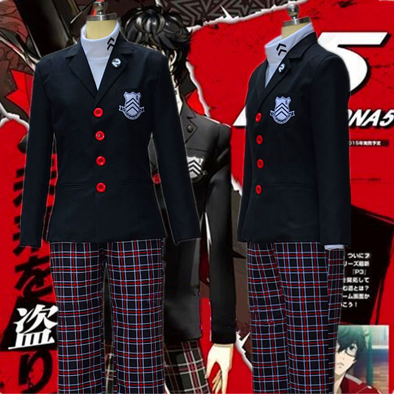 Persona P5 Anime Cos Clothes Yusuke Kitagawa COSplay Costume Custom Set