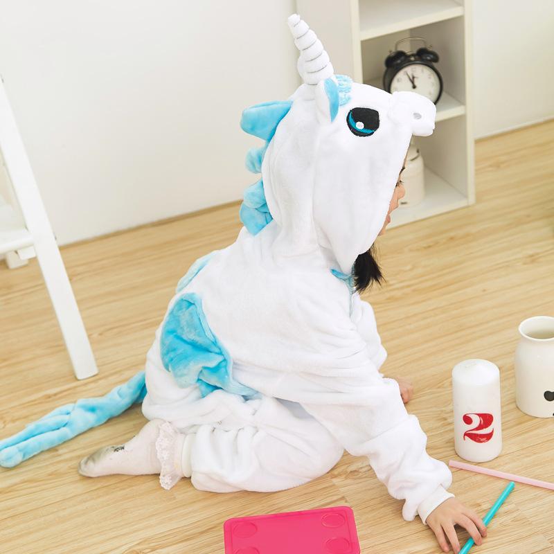 Unicorn Pyjamas Kids Pajamas For Girls Pijama Bathrobe Cosplay Anime Animal Children Onesie Boy Girl Sleepers Fleece Flannel Y18103008
