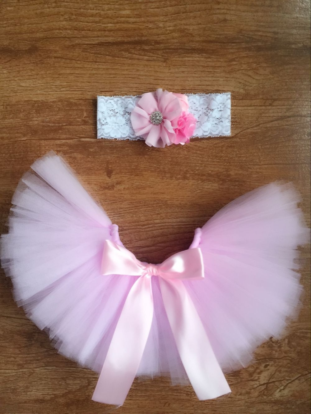 Newborns Baby bowknot lace tutu dress set flower headband+tutu skirt infants photo photography props costumes suits