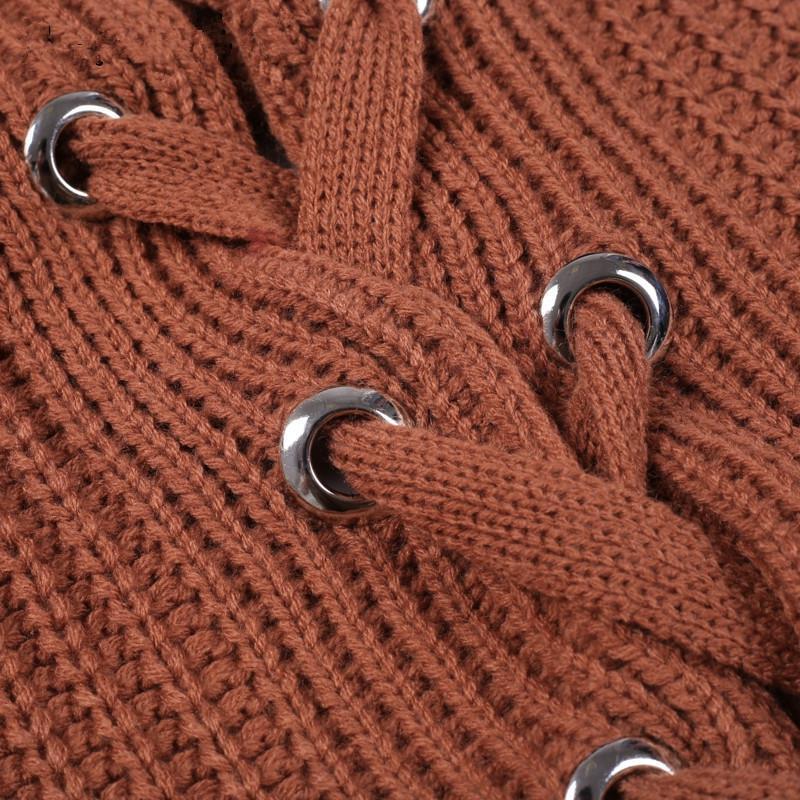 Russie Europe Les États-Unis Nouveau Produit Automne Hiver Longue Femmes Chandail Hem Fendus Fin Lacets Harajuku À Capuche Vêtements Haut