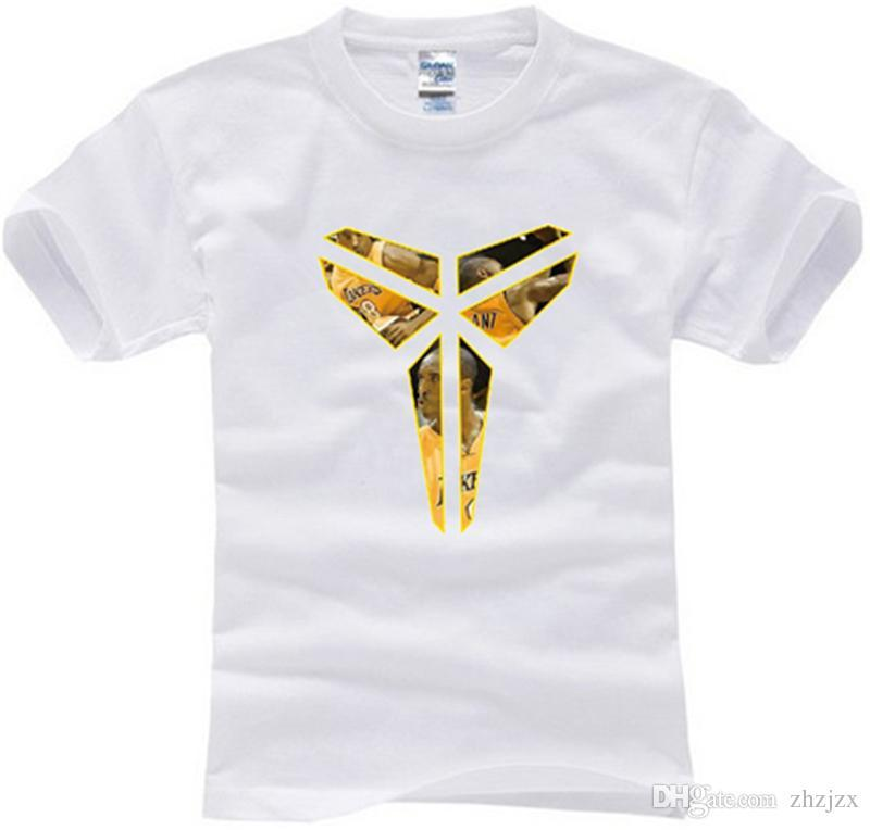 Kobe Bryant Triangle Homme T-shirt En Coton Tops À Manches Courtes Tees KOBE Classique Loge Imprimer Fitness Basketball Jersey Hommes Chemises AMD247