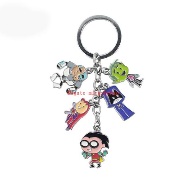 Anime Teen Titans Go Robin Metal Pendants Keychain Keyring Ornament Gift