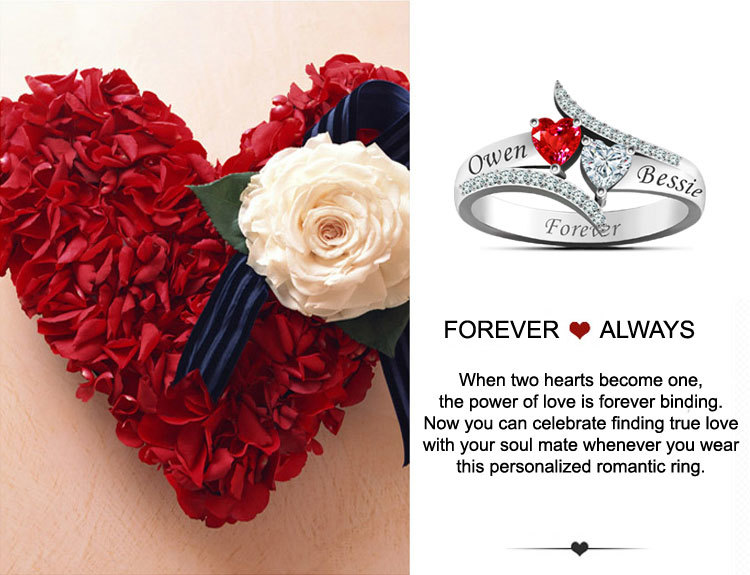 Personalized Couples Name Ring 6a