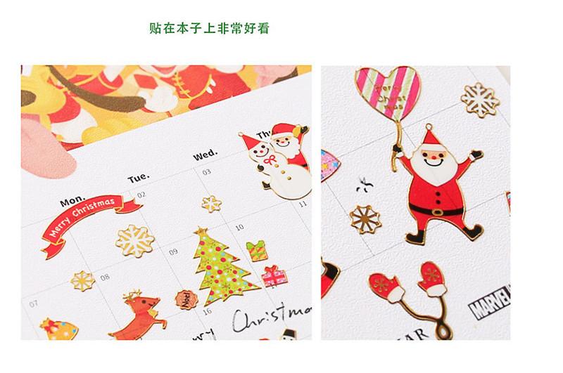 DIY Christmas Cartoon Sticker Santa Claus Wall Stickers Christmas Tree Snowman gift Paster Kindergarten Reward for kids Children PVC