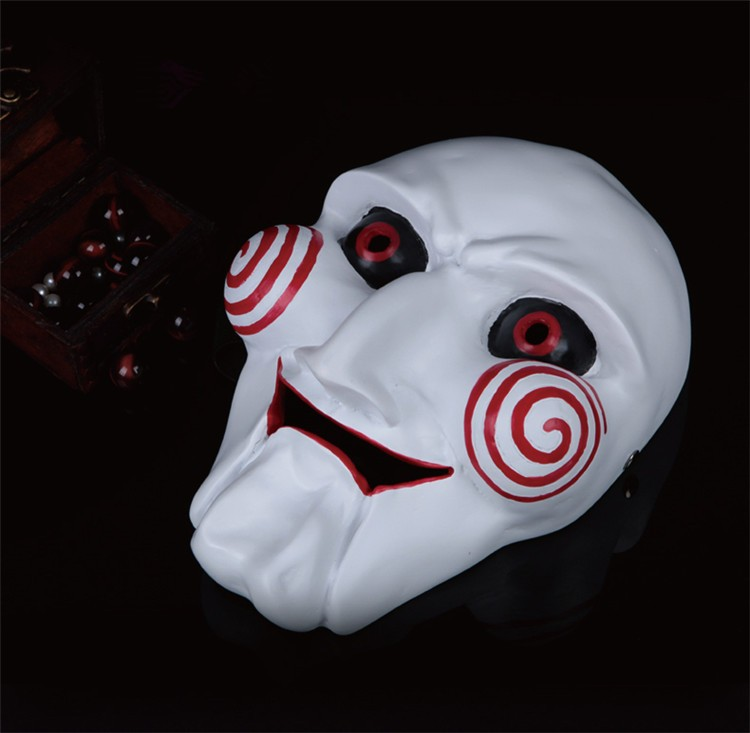 NEW Halloween Gift Electric Saw Mask Cosplay Party Horror Movie men Adult Full Face Mask Creepy Scary Resin High quality FA34 (3)
