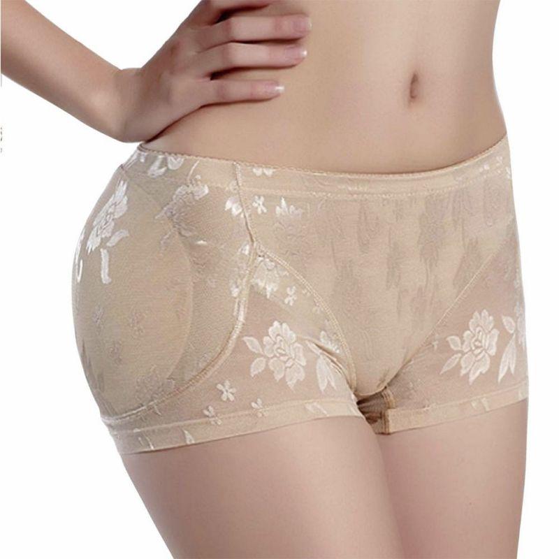 Panties Seamless Briefs Soft Lingerie Knickers Underwear Hip Up Padded Women