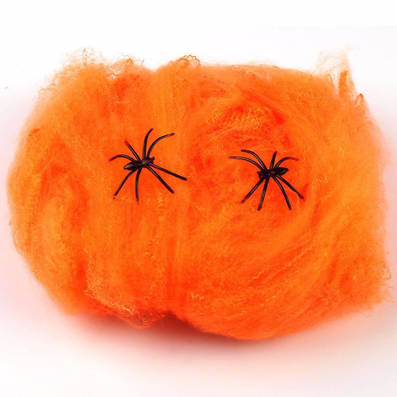 Stretchy Cobweb Spider Web Halloween Scary Party Scene Props Horror Halloween Decoration For Bar Haunted House DH201
