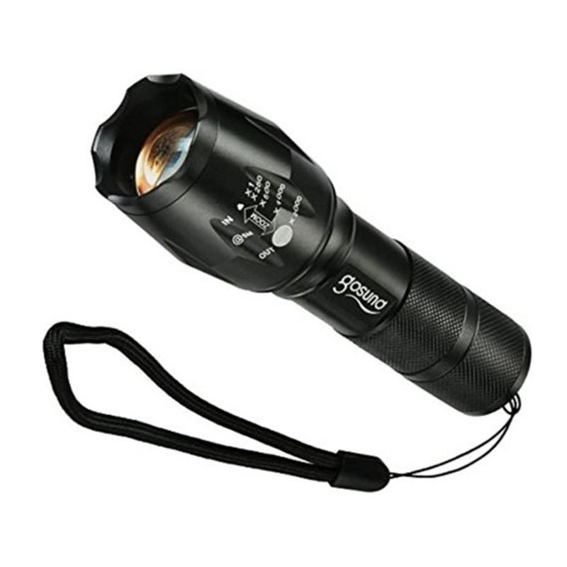 DEL torche Haute Puissance Rechargeable USB Lampe de poche Mini Lampe de Poche 5 Modes pour