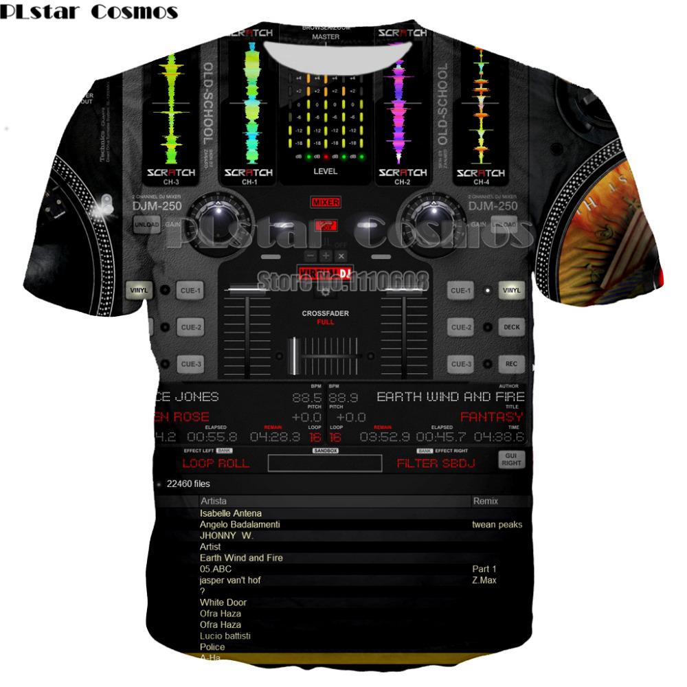 Toptan Moda Flaş Müzik Aktif T Gömlek LED Işık Yukarı ve aşağı EL Equalizer Bar T-Shirt Erkekler Kaya Parti için DJ T-shirt