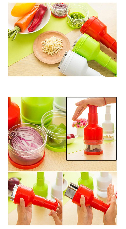 2016 New Creative Onion Slicer Multifunction Kitchen vegetable Chopper Creative Hand Garlic Press Kitchen Appliances HA115 (2)
