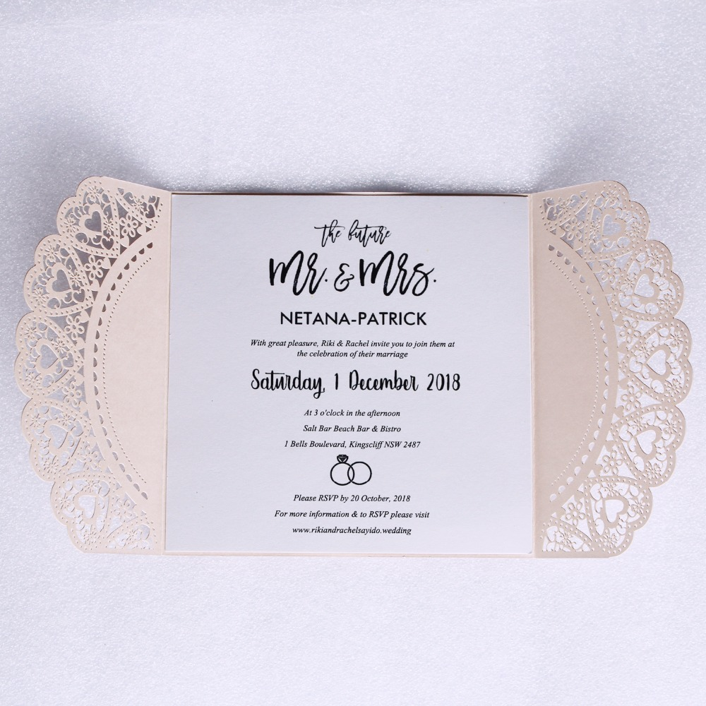 Customized Wedding Invite