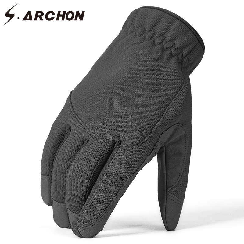 Unisex Bionic Half finger Gloves Thin Breathable Anti-slip Hunting Fishing SALE!
