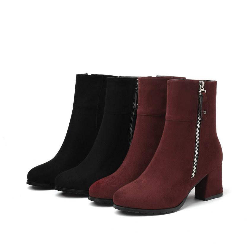 Schuhe Casual Stiefeletten High Frauen Großhandel Stiefel Heel Winterstiefel Zipper Größe Platz Platofrm 2019 Große Schwarze hQsoCxtrdB