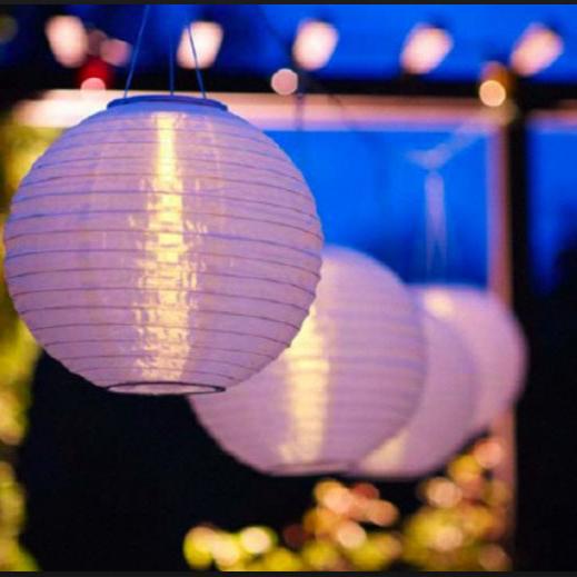 Weatherproof Solar LED Garden/Patio Chinese Lanterns (2)